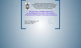 Principios para un Modelo Integrador de las Tecnologías de I