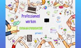 Professioneel Werken - Leerjaar 1 periode 2