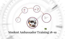 Student Ambassador Training 18-19