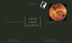 Equation Solving Steps