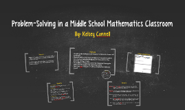 Problem-Solving in a Middlle Mathematics Classroom