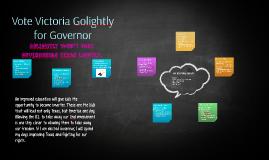 Vote Victoria Golightly for Governor