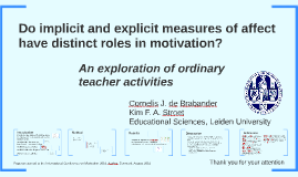 Do Implicit and explicit measures of affect have distinct ro