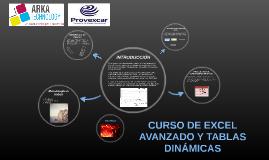 CURSO DE EXCEL AVANZADO Y TABLAS DINÁMICAS