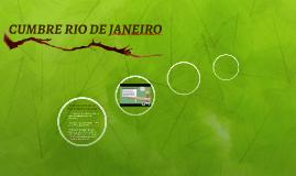 CUMBRE RÌO DE JANEIRO