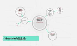 Carte conceptuelle Littératie