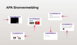 APA Bronvermelding
