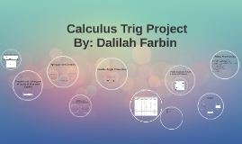 Calculus Trig Project