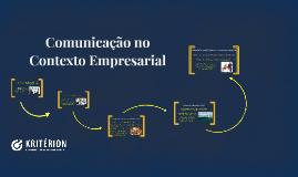 Comunicação no Contexto Empresarial