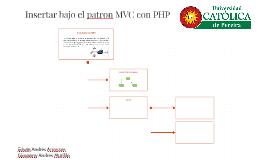 Insertar bajo el patron MVC con PHP
