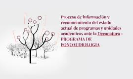 Proceso de información y reconocimiento del estado actual de