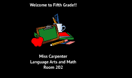 Welcome to Fifth Grade!!