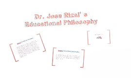 Jose Rizal's Educational Philosophy