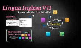 Língua Inglesa VII