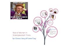 Role of Women in Shakespearean Times