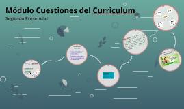 Módulo Cuestiones del Curriculum