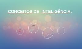 INTRODUÇÃO AOS CONCEITOS DE  INTELIGÊNCIA