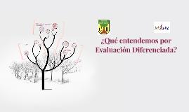 ¿Qué entendemos por Evaluación Diferenciada?