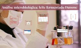 Análise microbiológica: leite fermentado Danone