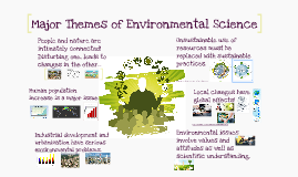Major Themes of Environmental Science