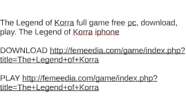 The Legend of Korra full game free pc, download, play. The L