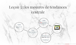 Leçon 3 : les mesures de tendances centrale