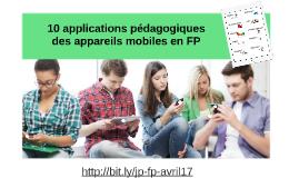 10 applications pédagogiques des appareils mobiles en FP