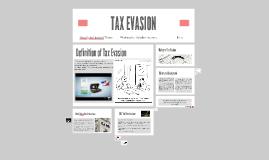 Copy of Tax Evasion