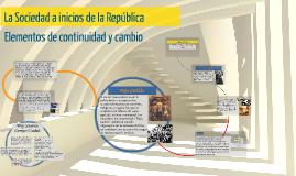 La Sociedad a inicios de la República