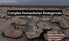 Complex Humanitarian Emergencices