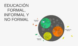 EDUCACIÓN FORMAL, INFORMAL Y NO FORMAL