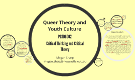 Queer Theory and Youth Culture