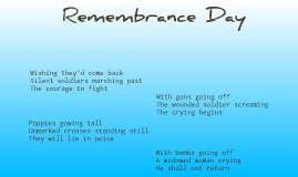 Remembrance day haikus