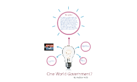 One World Government?