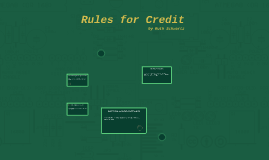 Rules for Credit