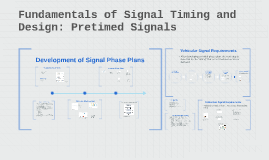 Fundamentals of Signal Timing and Design: Pretimed Signals