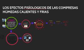 EFECTOS FISIOLOGICOS DE LAS COMPRESAS HÚMEDAS CALIENTES Y FR