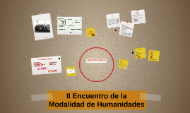 I Encuentro de la Modalidad de Humanidades
