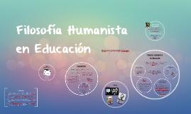Filosofía Humanista en Educación
