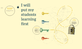 I will put my students learning first