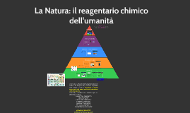 La natura il reagentario chimico dell'umanità