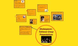 Shakespeare -- Tableaux