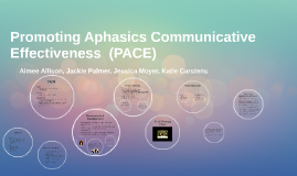 Promoting Aphasics Communicative Effectiveness (PACE)