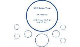 JCHS Speech Team