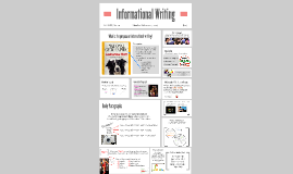 Copy of Informational Writing