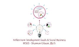 303 - Millennium Development Goals & Social Business