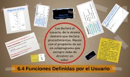 6.4 Funciones Definidas por el Usuario