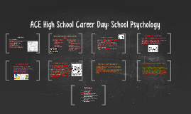 ACE High School Career Day: School Psychology