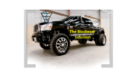Biodiesel Truck Economic Analysis
