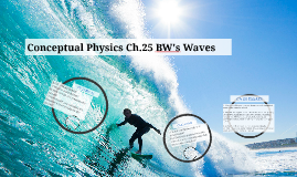 Conceptual Physics Ch.25 BW's Waves
